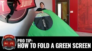 PRO TIP: How To Fold A Green Screen